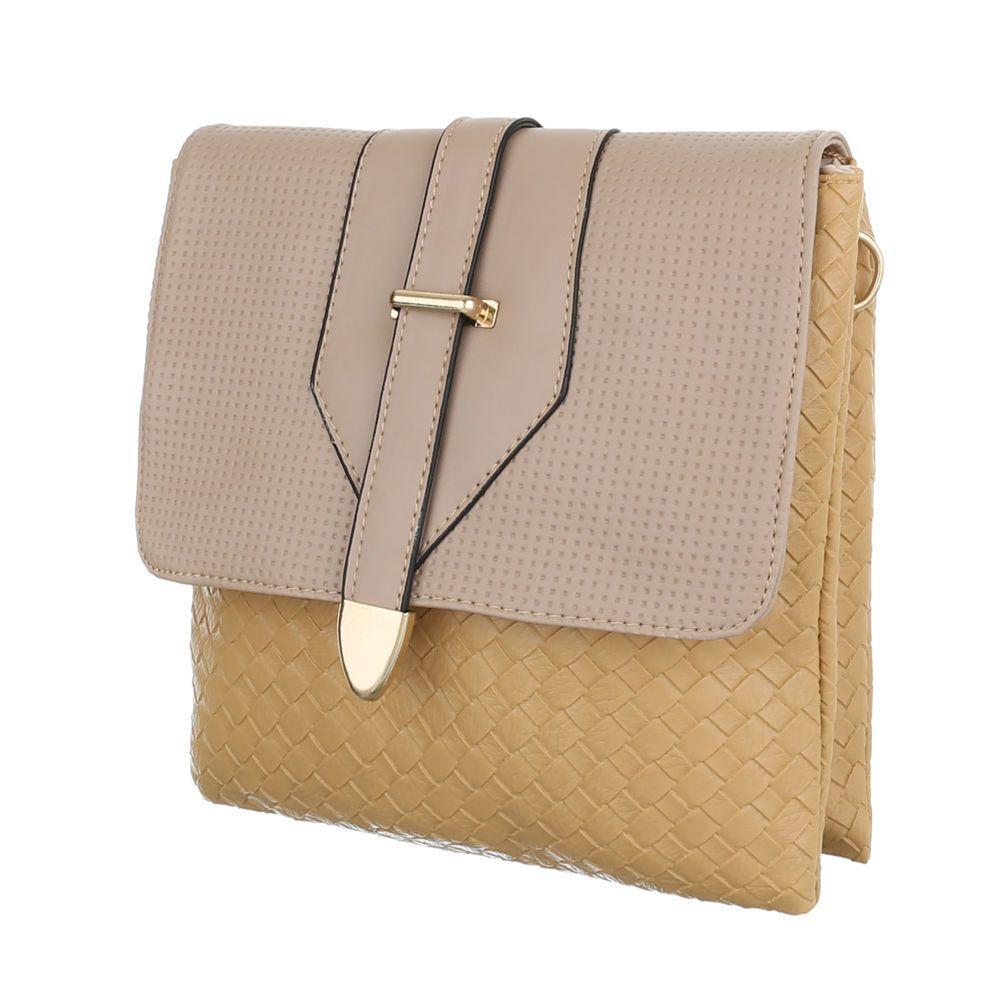 Женская сумка планшет с плетёной текстурой(Европа) Бежевый