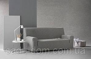 Чехол натяжной на 3х - 4х  местный диван Летрас Серый