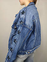 Короткая джинсовая куртка в размерах S,M,L,XL , производитель Италия