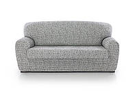 Чехол натяжной на 4-х местный диван Андреа Мраморный, фото 1