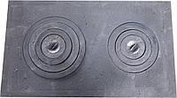 Плита чугунная печная с комфорками ПД-3 (710 х 410 мм.)