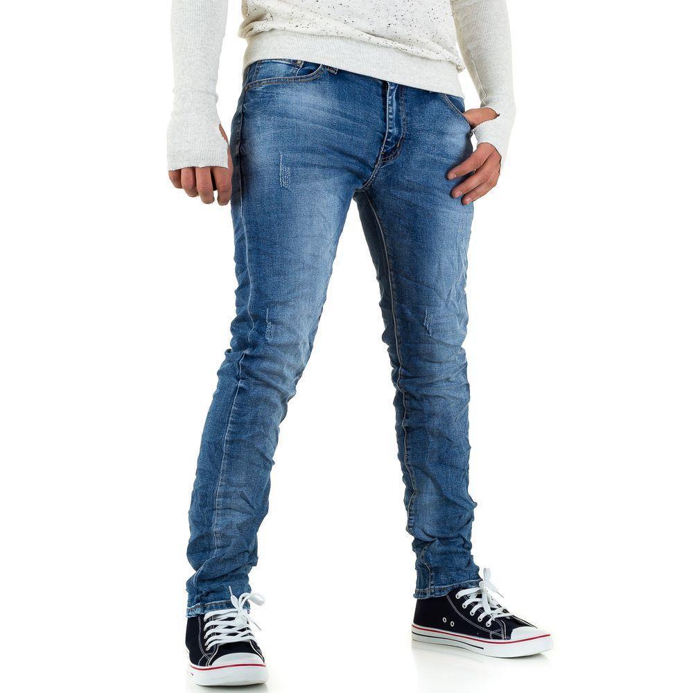 Мятые мужские джинсы Dklic Jeans (Италия), Синий