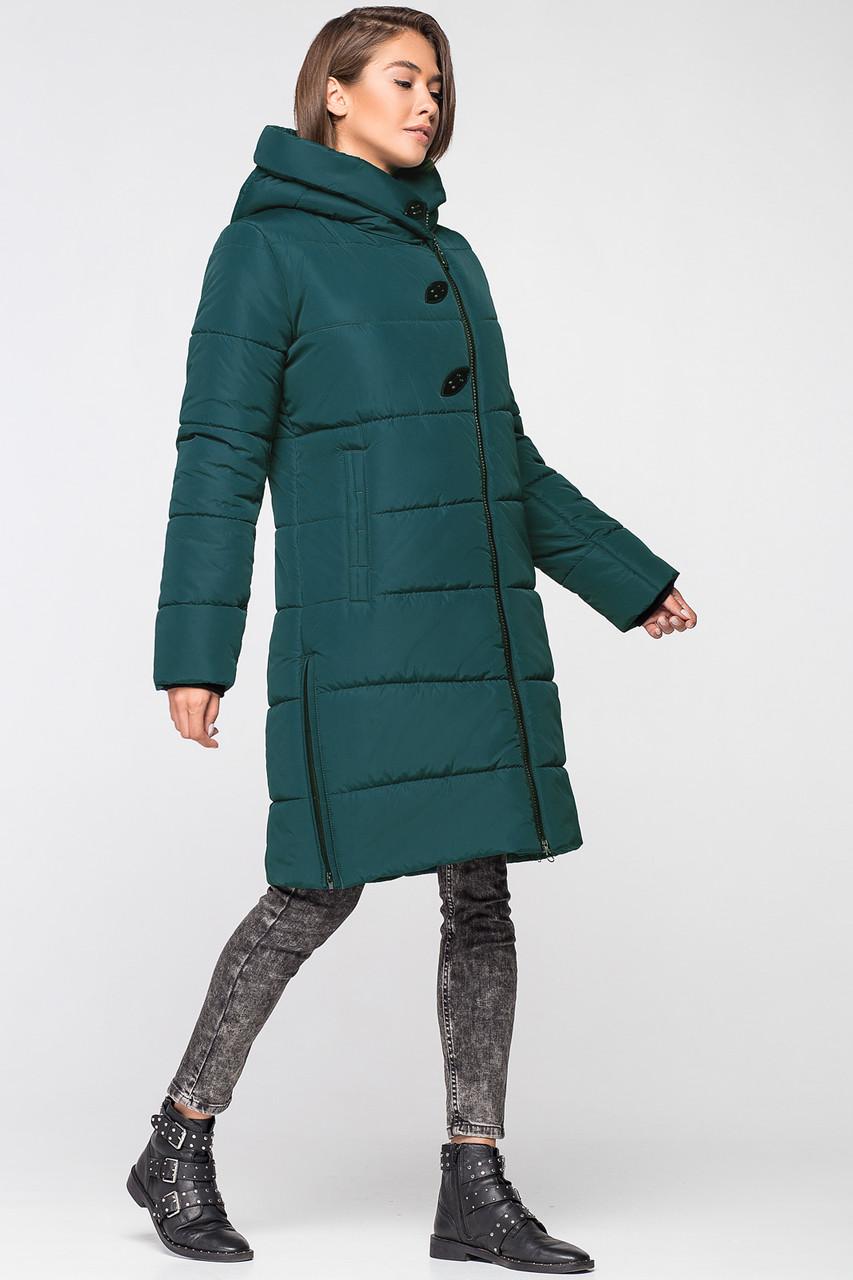 Батальная женская зимняя куртка VS MT-191 темный изумруд (#SIN5)
