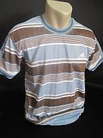 Мужские футболки в полоску из жатой ткани.