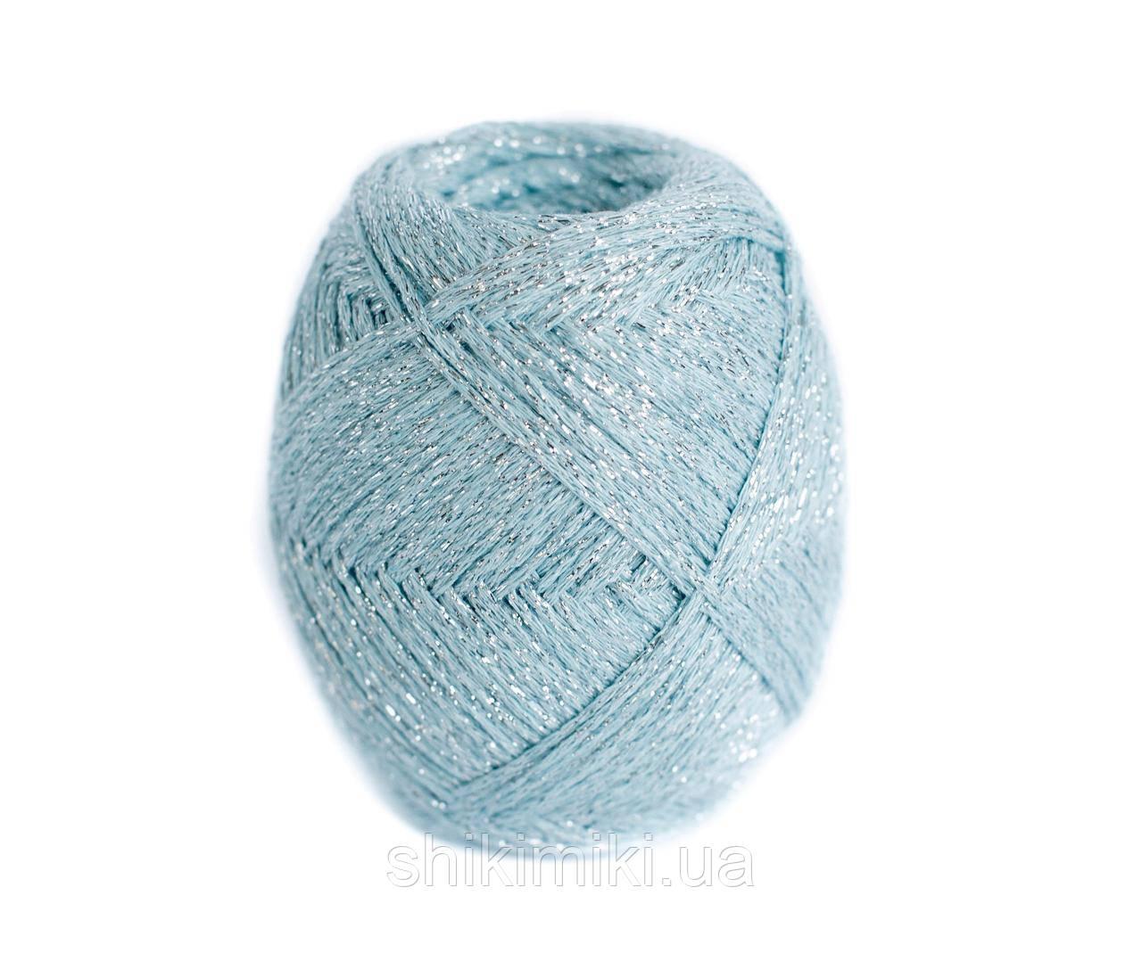 Трикотажный шнур Knit&Shine, цвет аквамарин