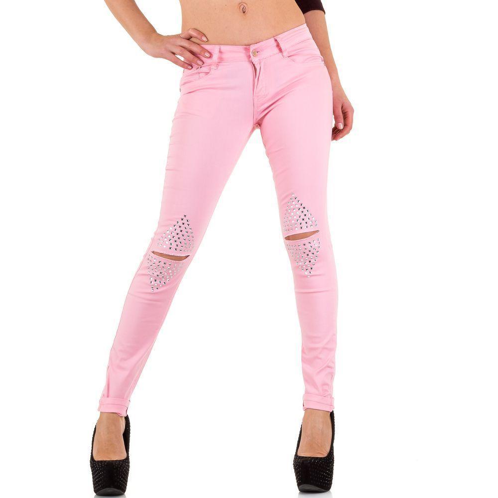 Женские джинсы от Lantis - Роза - KL-J-KK118-5-rose