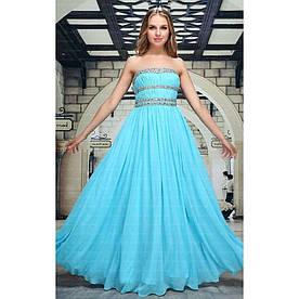 Женское платье от Festamo - синий - Мкл-F5788-синий