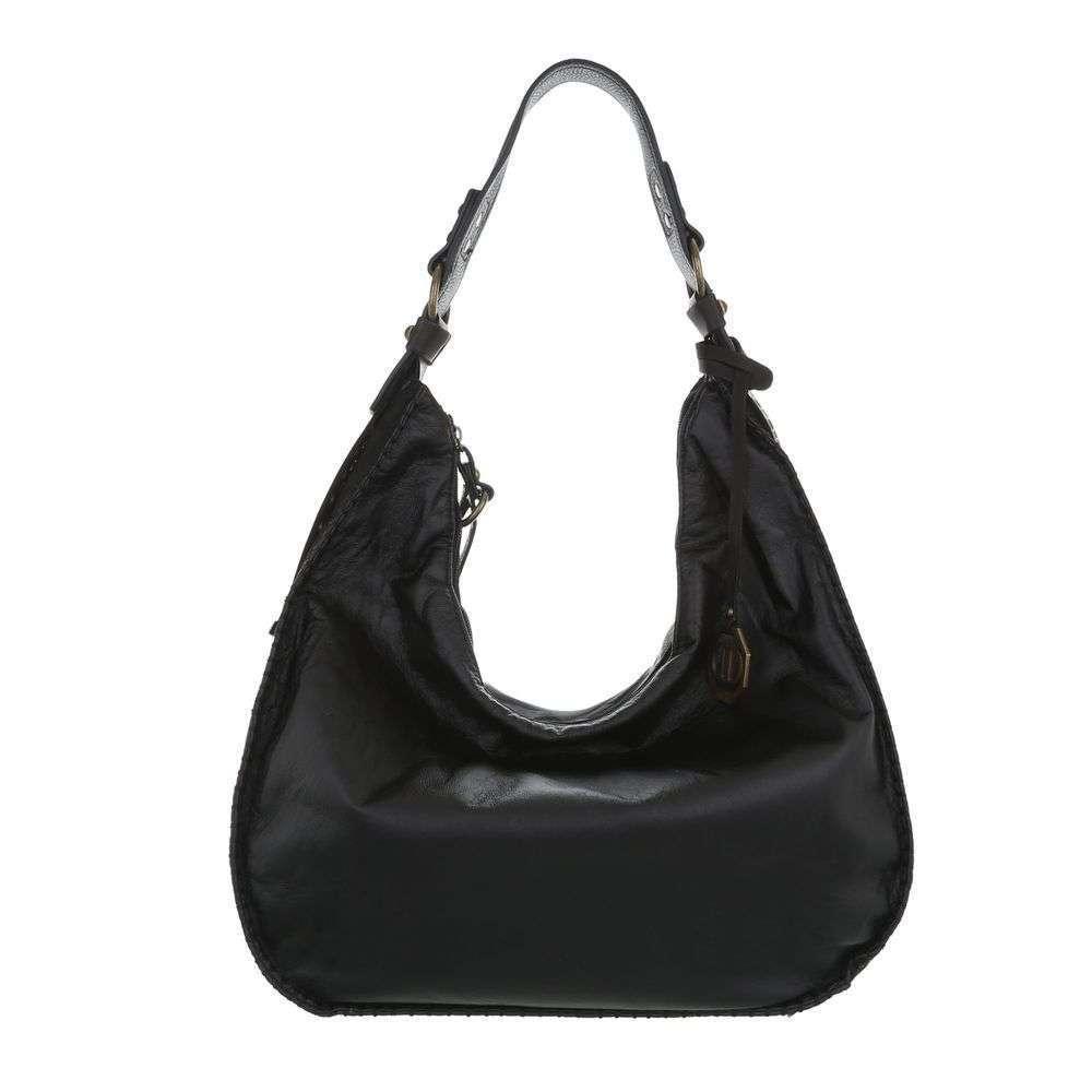 Женская наплечная сумка-черный - ТА-7035-2-черный