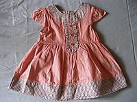 Детское летнее  котоновое платье для девочки 9,  18 мес  Турция Хлопок , фото 1