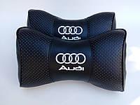 Подголовник (подушка) AUDI BLACK, фото 1