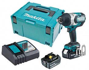 Аккумуляторный гайковерт Makita DTW1001RTJ + 2 акб 18 V 5 Ah + з/у + MakPac