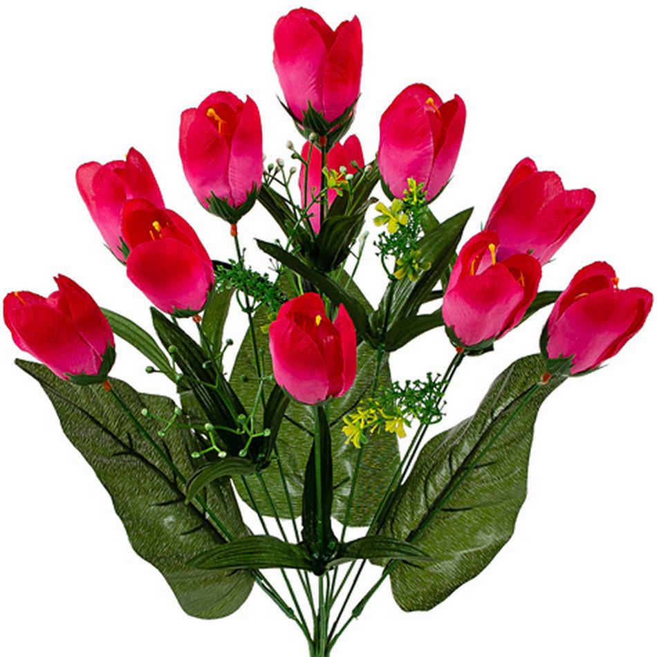 Букет искусственных тюльпанов, 49см (10 шт. в уп)