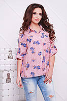 Рубашка Розочка коралловый