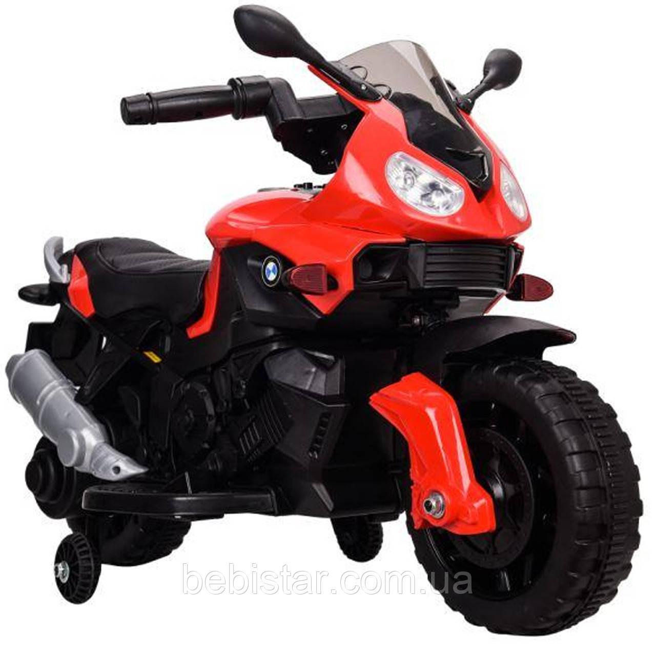 Електромобіль-мотоцикл червоний T-7219/1 RED мотор 1*20W акумулятор 6V4,5AH діткам 2-4 роки