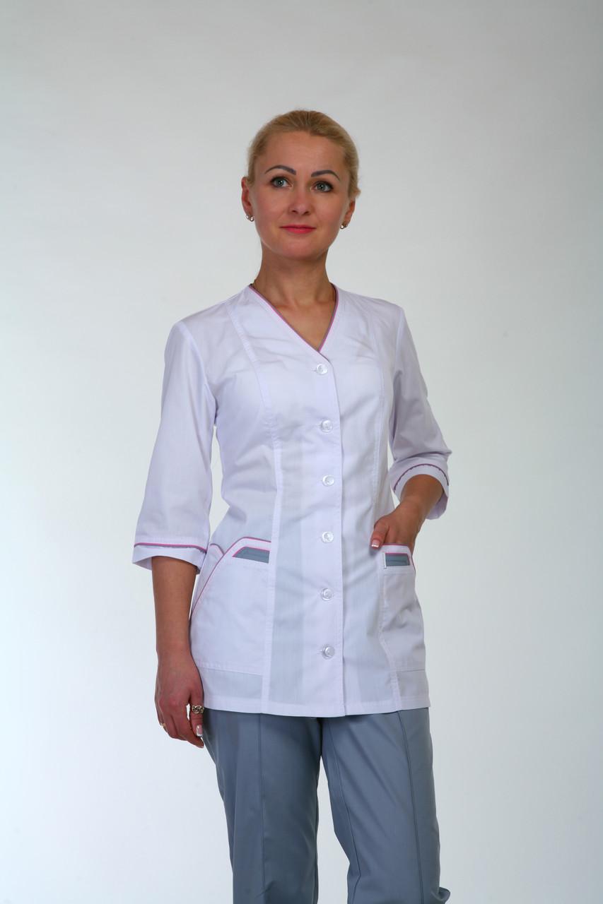 "Медицинский костюм ""Двойной кант"" 22105 (батист)"