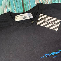 Мега Футболка OFF WHITE Gradient Black • NEW, фото 2
