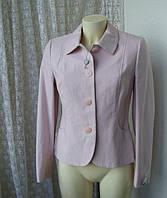 Жакет пиджак женский весна розовый хлопок бренд Next р.44-46, фото 1