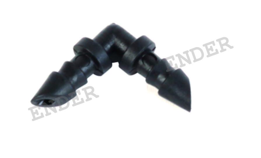 Угловое соединение для микротрубки «ENDER» (капельный полив)