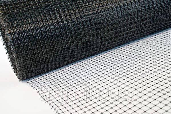 Сетка пластиковая 2х100м (ячейка 12*14мм), чёрная