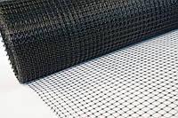 Сетка пластиковая 2х100м (ячейка 12*14мм), чёрная, фото 1