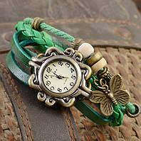 Женские часы браслет с бабочкой зеленые, фото 1