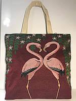 Сумка женская для моря Фламинго