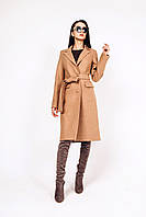 Пальто весеннее из шерсти Д 290 кэмел