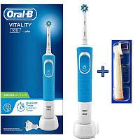 Електрична зубна щітка Braun Oral-B Vitality 100 Cross Action Blue + насадка 0fc5037940016