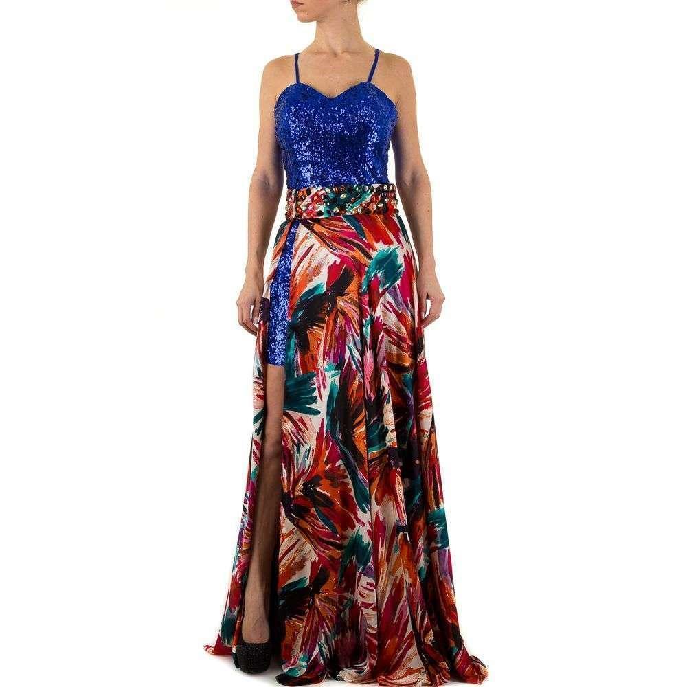 Женское платье от Festamo - синий - Мкл-F1576-синий
