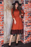 Платье с пышной юбкой Азалия, терракот