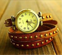Женские наручные часы браслет JQ коричневые