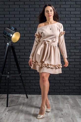 """Нарядное женское платье """"Ириска Беж"""""""