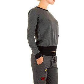 Женский свитшот с патчами производителя Kimi&Co (Франция), Серый