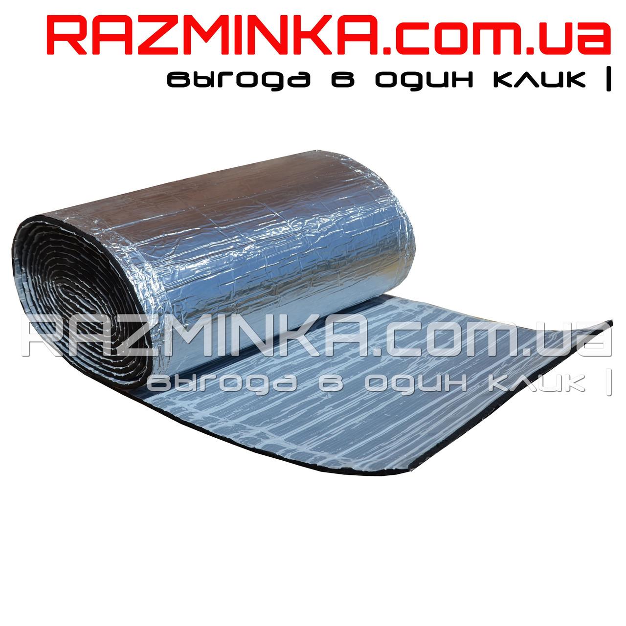 Вспененный каучук 9мм с фольгой и липким слоем