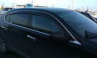 """Дефлекторы окон (ветровики) Lexus LS IV long 2007-2012""""EuroStandard"""" (Лексус лс) Cobra Tuning"""