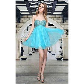 Женское платье от Festamo - синий - Мкл-F2892-синий