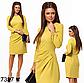 Модное женское платье с рукавом (светло-серый) 827325, фото 3
