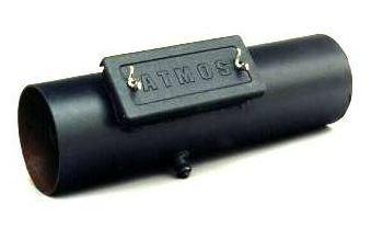 Дымоход Atmos Ø200 мм, L800 мм, с отверстием для чистки и патрубком