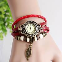 Жіночі годинники браслет з листочком вишні, фото 1