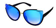 Голубые очки солнцезащитные кошки тренд 2019 Giulia Rossi