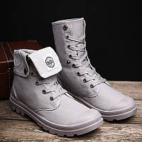 Классные демисезонные ботинки серого цвета 40-44рр