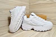 Кросівки жіночі шкіряні білі 40 розмір копія Fila Disruptor 2 07d7ffb590033