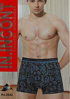 Мужские трусы боксеры IN INCONT (уп. 24шт) 3542