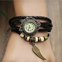 Женские часы браслет черные перо, фото 1