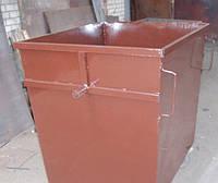 Бак для мусора без крышки, без колес металлический 900 литров (задняя загрузка, боковая выгрузка)