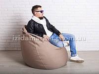 Кресло мешок груша Большой коричневого цвета