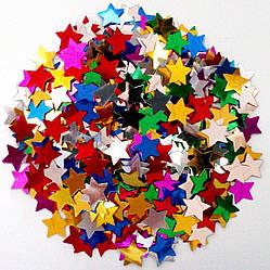 Конфетти фольгированные разноцветные Звезды 0,3 кг