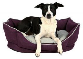 Trixie Лежак Pyra, 55 × 42 см, текстиль, лиловый/серый