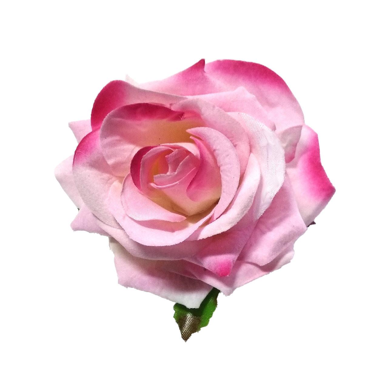 Головка розы раскрытая бархатная.  10см