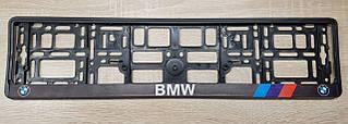 Рамки для номерных знаков, принт BMW